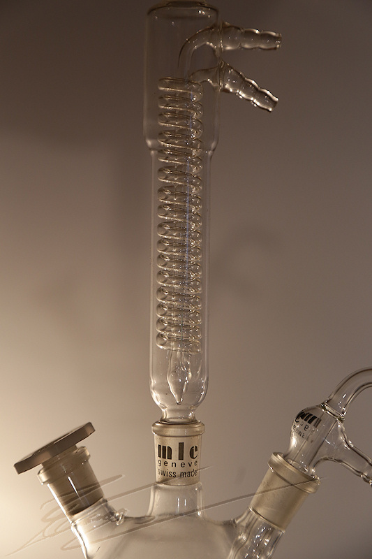 divers matériel material glass brand verrerie labo laboratoire laboratory chimie chemical verre distillateur distillation distille colonne column