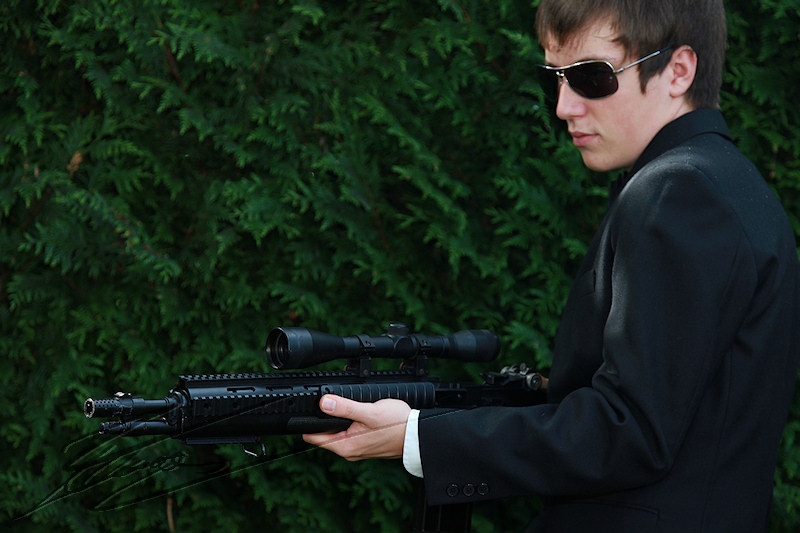 nico nicolas horatio caine experts miami james bond costard m14 sniper lunette visée tir