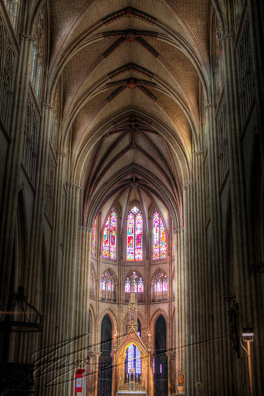 reportage pays basque ville bayonne france Cathedrale hdr