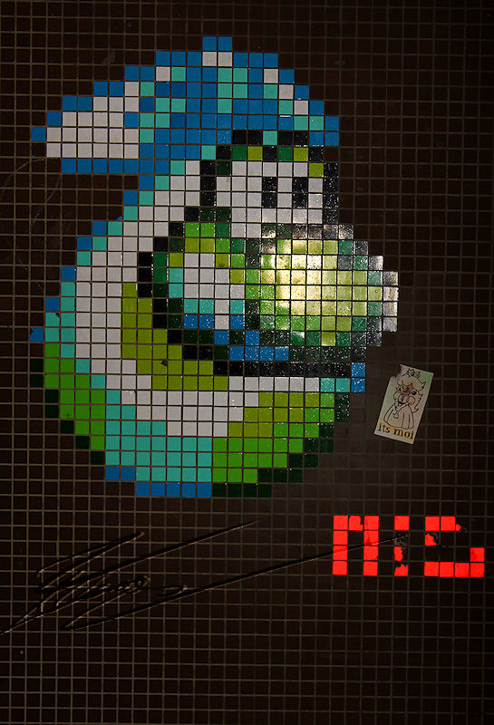 reportage 2012 france paris salon de la photo mosaïque yoshi mario super mario bros oeuf vert art de rue déco 80's 90's