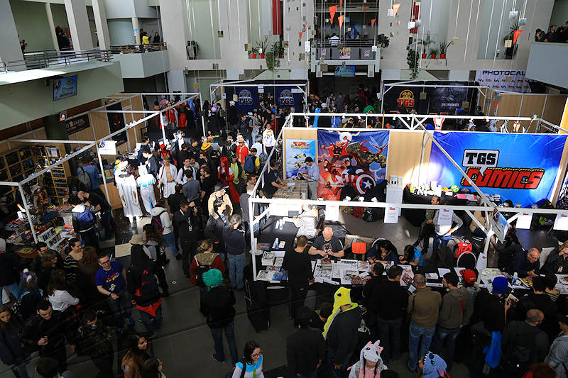 reportage 2016 france toulouse tolosa TGS game show salon du jeu vidéo manga japon comics dc marvel foule crowd hauteur high