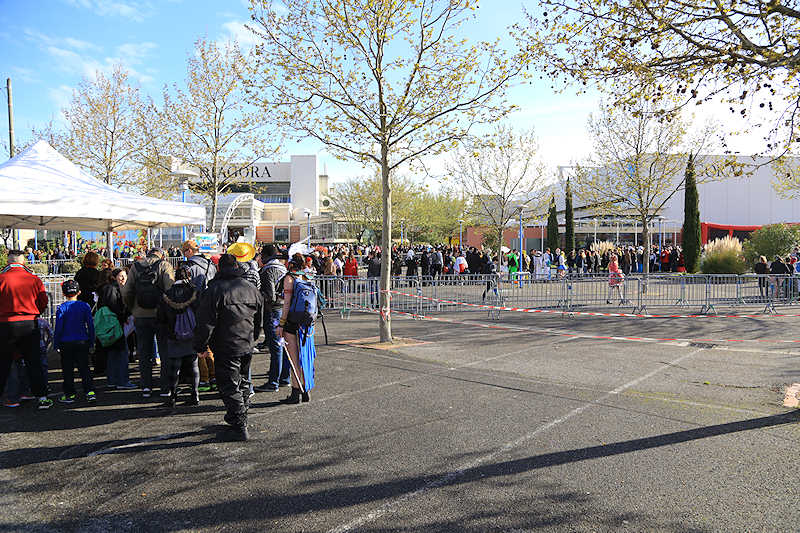 reportage 2016 france toulouse tolosa TGS game show salon du jeu vidéo manga japon comics dc marvel entrée entrance queue monde beaucoup de gens people crowd foule